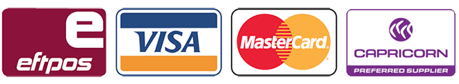 eftpos, VISA, MasterCard, and Capricorn - Hyundai Heaven's supported payment options
