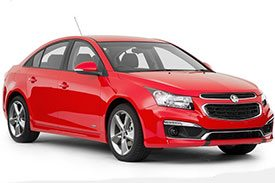 Red sporty sedan, the cruze from holden, is all set to win your heart