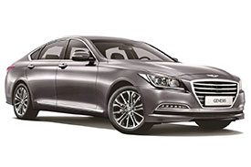 Front view of the Hyundai Genesis DH, a luxury sedan