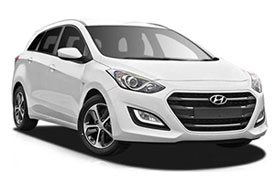 Second series of the most selling Hyundai i30 covered in royal white & 5 spoke alloy wheels