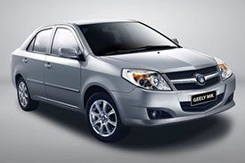 Classic sedan from Geely, the new MK GL in a silver