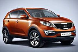 Kia sportage sl, an SUV with a sporty look