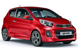 A less jazzed up and smaller version of the famous Picanto, the Kia Picanto TA in all red exterior