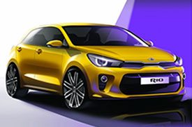 The YB version of Kia Rio, sporty hatchback with large 16 spoke alloy rims