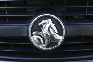 Holden badge on the front of a car
